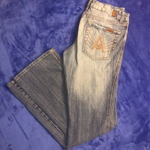 "7FAM- 7 for all mankind ""A"" pocket slim flare"